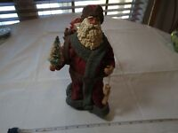 Clothtique santa 1985 Christmas ornament wood stocking Possible Dreams LTD sack