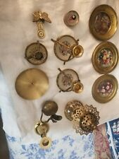 Lot Of 13 Pieces Of Preowned Brass And Mixed Metal Items