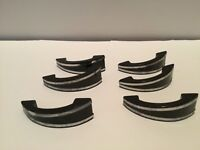 Art Deco 6 Vintage Chrome Drawer Pulls Cabinet Handles Black W Chrome