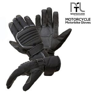 Leather/Textile Motorcycle Motorbike Touring Waterproof Mens Biker Gloves Winter