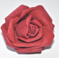 "SMALL 2.5"" Red Foam Flower Hair Clip Wedding Bridesmaid Prom"