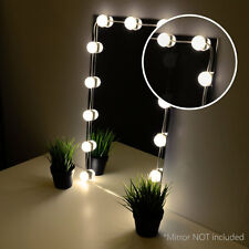 Crystal Vision Hollywood Style Makeup Mirror LED Light Kit Warm White 12bulb 8ft