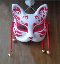 Japan Fox Mask Half Face Hand-Painted Masquerade Hallowen Costume Party Novelty