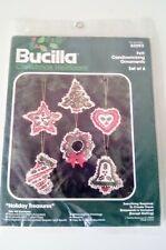 Bucilla Christmas Heirloom Holiday Treasures Felt Candlewicking Ornaments Kit
