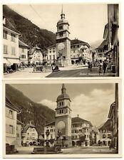 SCHWEIZ ALTDORF 1920/30 4 versch. ungebr. s/w RP AK´s, Telldenkmal, Hauptplatz