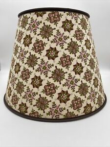 vintage lamp shade fabric And Paper. Retro Geometric Pattern In Green And Rose!