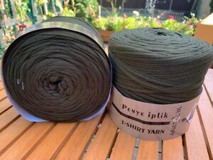 T Shirt Yarn By Penye  Crochet Macrame 2 x spools    Khaki