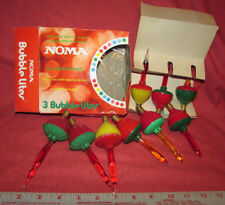 Vintage NOMA CHRISTMAS BUBBLE-LITES 9 Replacements for C7 Candelabras wOrig Box