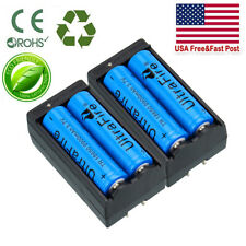 4PC 18650 3.7V Li-ion Lithium Rechargeable Battery + 2PC Smart Charger UltraFire