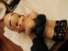 vintage chalkware kewpie style doll bank