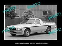 OLD POSTCARD SIZE PHOTO OF 1980 HOLDEN WB KINGSWOOD UTE LAUNCH PRESS PHOTO 2