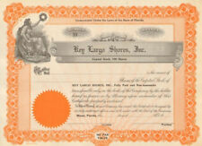Key Largo Shores > 1920s Miami Florida stock certificate share