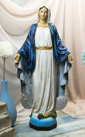 """Virgin Mary Madonna With Miraculous Medal Decorative Figurine 16"""" Tall Catholic"""