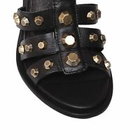 Kurt Geiger KG Leather Sandals Open-Toe Heels Studded Strappy Shoes  RRP £150
