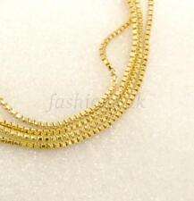 50cm 49.5cm 14K placcato oro giallo brillante BOX COLLANA A CATENINA 1.2mm
