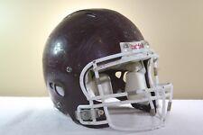 Riddell Adult Game Used Worn Revolution Football Helmet Large Maroon Ropo 1-48