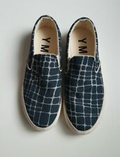 YMC Giraffe Print Navy slip on Shoes Size EU 38 UK 5