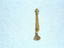 """Vintage small Miniature Sarna Brass Bell, Etched Leaves 547.T 4"""""""