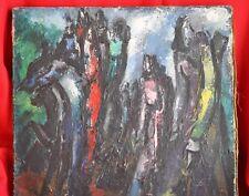 Hélène AZENOR(1910-1999)-Huile sur toile - Signé- Les cavaliers de l'apocalypse
