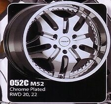 "Maas 52 Chrome wheels 20""x8.5"" 6H 139.7"