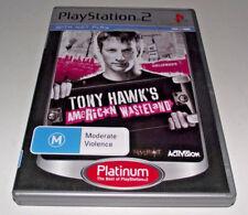 Tony Hawk's American Wasteland PS2 (Platinum) PAL *Complete*