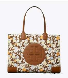 💚 Tory Burch Large Ella Floral Printed Tote Bag Logo Shopper Handbag Purse NWT