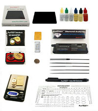 PREFERRED TESTING SET-1000 gr SCALE DIAMOND TESTER GOLD SILVER TEST KIT+ MORE