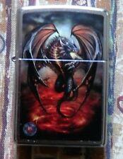 SKULLS & GOTHIC ANNE STOKES WINGED DRAGON ZIPPO LIGHTER FREE P&P FREE FLINTS