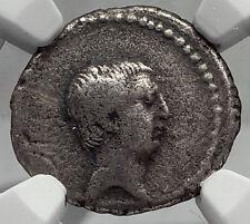 Roman Republic 42BC Praetor Livineius Regulus Praefect Silver Coin NGC i59830