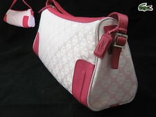LACOSTE SHOULDER BAG Baguette Chantaco Jaquard 13 Pink