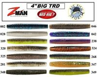 """Z-Man BIG TRD NED RIG Finesse 4"""" ElaZtech Worms PICK YOUR COLOR NEW (6 PER PACK)"""