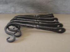 "Colonial Forged Wrought iron  5"" square hooks w/twist wall mount sets of 6."