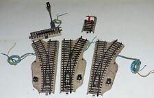 5 tlg Märklin M Gleis Konvolut: 5119 5118 elektr. Weiche 5112 5113 5129