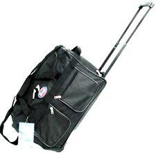 "20"" Black 40LB CAP ROLLING WHEELED DUFFLE BAG CARRYON LUGGAGE/SUITCASE W /HANDLE"