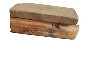 """Soft Arkansas Washita Stone On Cedar Base 1""""x 3"""""""
