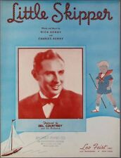 1939 LITTLE SKIPPER Nick Charles Kenny DEL COURTNEY Sheet Music BOY & SAILBOAT