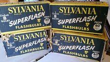 Sylvania superflash flashbulbs press 40 lot of 32 vintage old stock photography