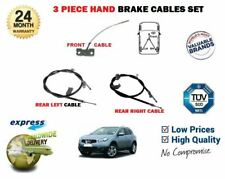 FOR NISSAN QASHQAI 5 SEAT 2006-2014 FRONT & REAR LEFT & RIGHT HAND BRAKE CABLE