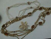 Lot Vintage Sarah Coventry Jewelry - 2 Necklaces & One Pin