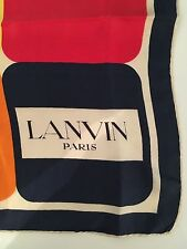 Vintage LANVIN Scarf......(Shawl, Pashmina, Hijab, Silk, Phoebe Philo, Bandana)