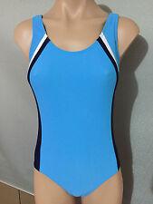 ab6716599e3a7 BNWT Girls Sz 9 Full Back Aqua/Navy/White Target One Piece Swim Suit