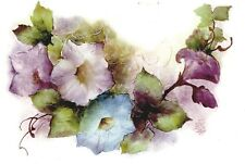 Lilac Blue Morning Glory Flowers Select-A-Size Ceramic Waterslide Decals Xx