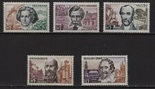 Ag16** Lot x5 Timbres / Neuf**MNH TBE (série Grands Hommes 1963) ns°1382 -> 1386
