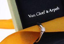 Van Cleefs & Arpels Ring Solitär 950/- Platin Diamant 0,30ct RW52 (Z434)