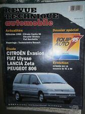 Peugeot 806 Citroën EVASION Fiat ULYSSE Lancia ZETA : revue technique RTA 576