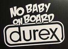 Funny no baby on board car van window sticker vinyl decal JDM DRIFT VW FORD BMW