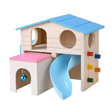 1pc Hamster House Ladder Slide House Pet Small Animal Hamster Wooden Play House