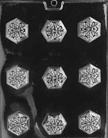 AO039 Christmas Snowflake Chocolate Candy Soap Mold with Instructions