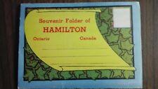 HAMILTON ONTARIO SOUVENIR FOLDER 18 VIEWS OF CITY SCENES