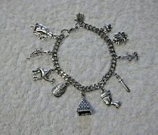 EGYPTIAN Inspired Adjustable Charm BRACELET King Tut Pyramid Queen Cat Ankh